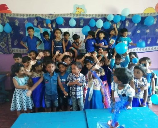Blue Day of KG Kids 2019